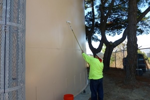 Anti Graffiti Barrier Coating being Applied